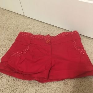 Red Fang Shorts like new size 9 juniors